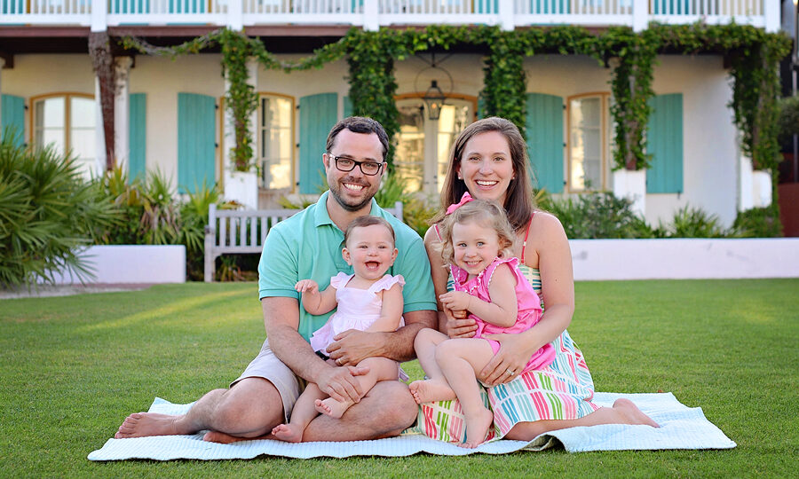 Rosemary Beach Florida on Scenic Highway 30A in South Walton, these family photos are the perfect example of Coastal colors