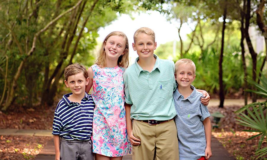 Great family photo in Santa Rosa Beach, FL off Scenic Highway 30A near Seaside, Florida
