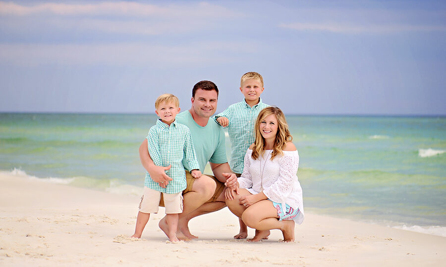 Beautiful ighting for a family beach photography session in the panhandle of Florida