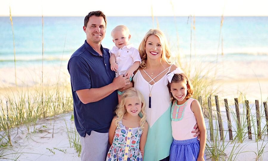 Family Beach Photography Session in South Walton near Blue Mountain Beach in Florida