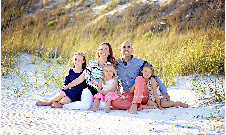 Family Beach Pictures In Front of the Sand Dunes on 30A Beaches